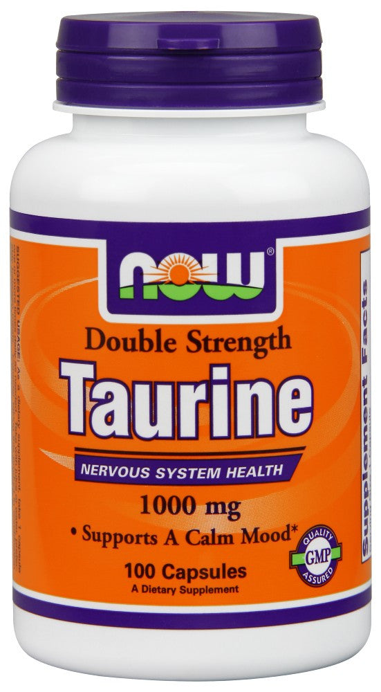 NOW Taurine 1000 mg - 100 Capsules