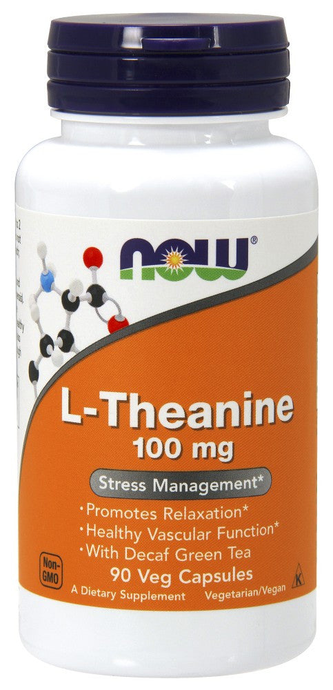 NOW Theanine 100 mg - 90 Vegetarian Capsules
