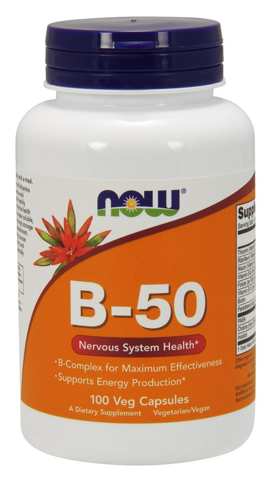 NOW Vitamin B-50 Caps - 100 Capsules