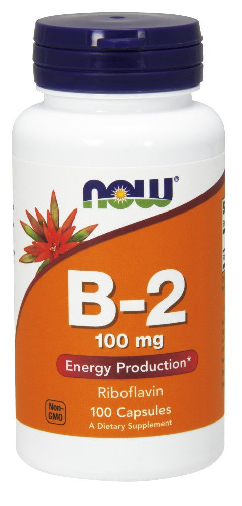 NOW Vitamin B-2 (Riboflavin) 100mg - 100 Capsules