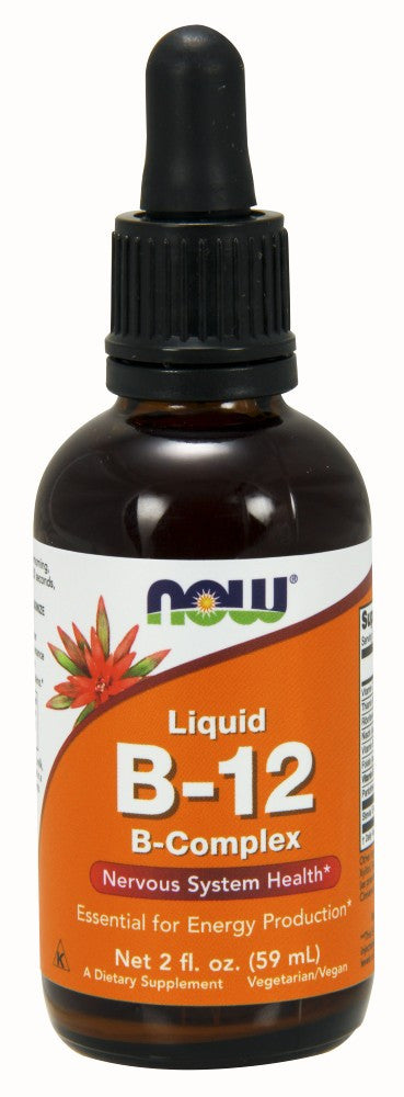 NOW Vitamin B-12 Complex Liquid - 2 fl. oz.