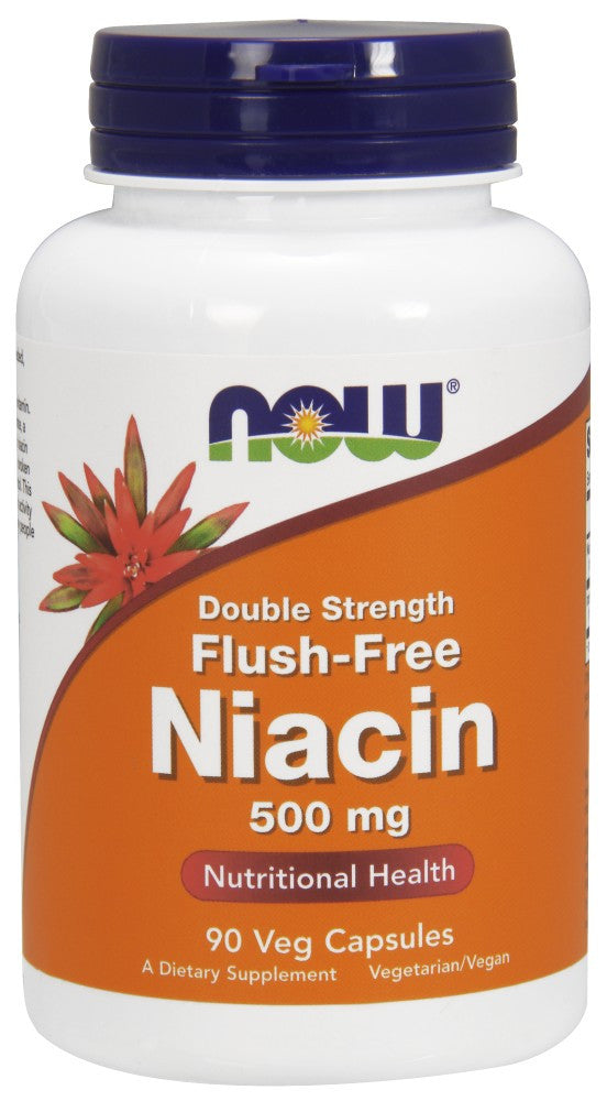 NOW Flush-Free Niacin 500 mg - 180 Vegetarian Capsules