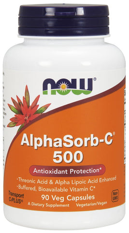 NOW AlphaSorb-C 500 - 90 Vegetarian Capsules