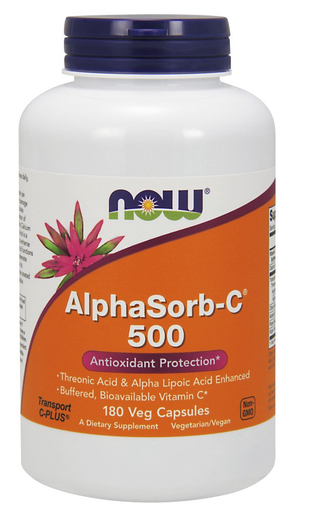 NOW AlphaSorb-C 500 - 180 Vegetarian Capsules