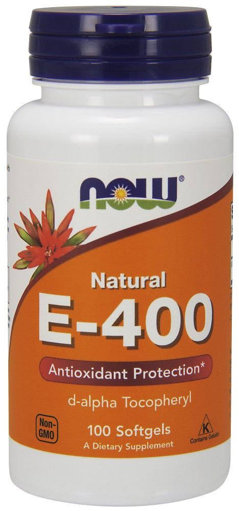 NOW Vitamin E-400 IU D-Alpha Tocopheryl Acetate - 100 Soft Gels