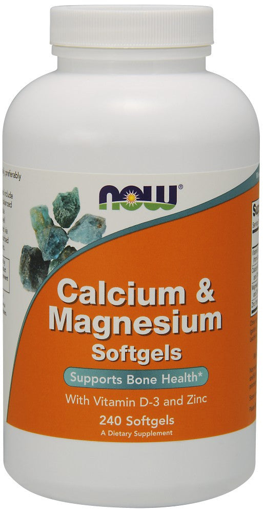 NOW Calcium & Magnesium - 240 Soft Gels