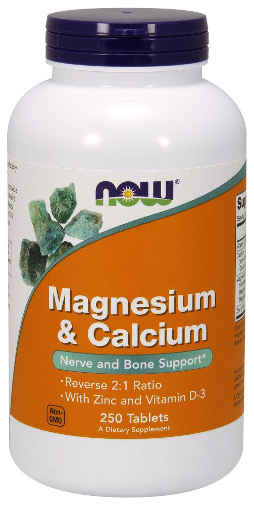 NOW Magnesium & Calcium - 250 Tablets
