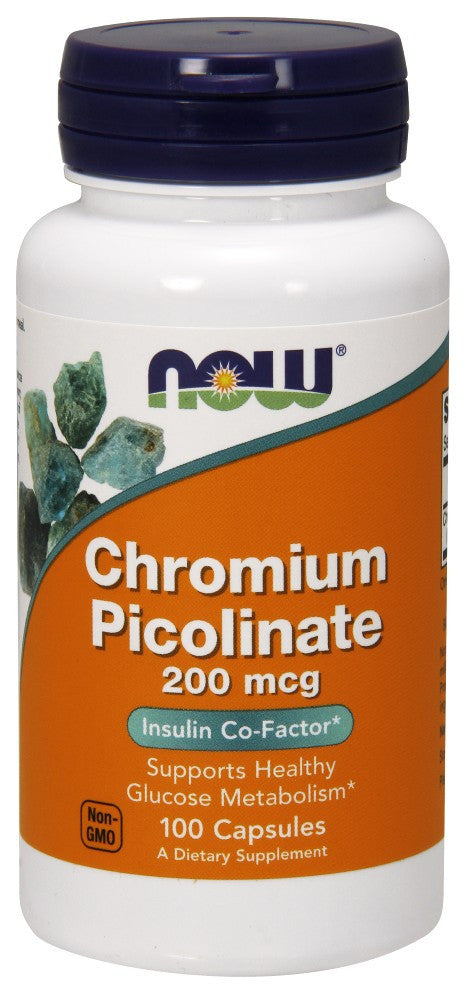 NOW Chromium Picolinate 200 mcg - 100 Capsules