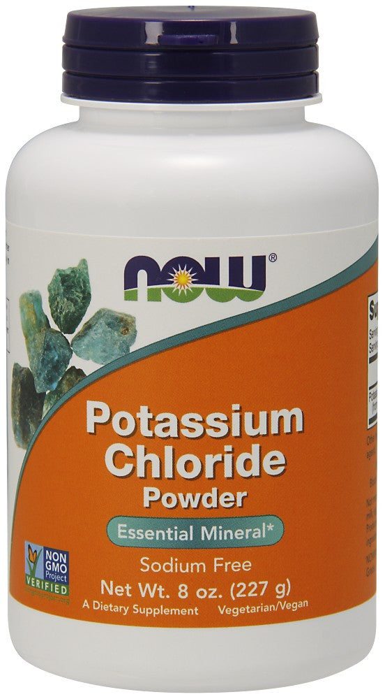 NOW Potassium Chloride Powder - 8 oz