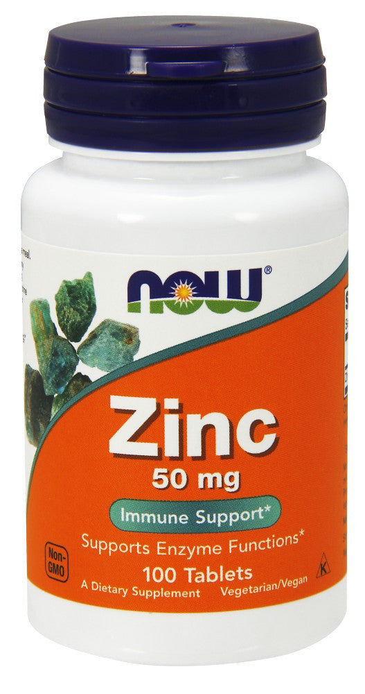 NOW Zinc 50 mg - 100 Tablets