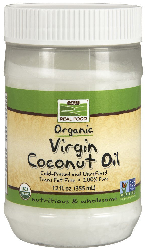 NOW (Coconut Oil, Virgin Organic 12 fl. Oz.)