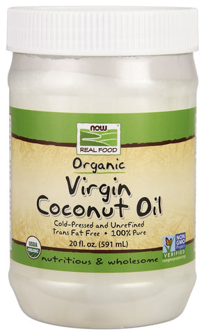 NOW (Coconut Oil, Virgin Organic 20 fl oz)