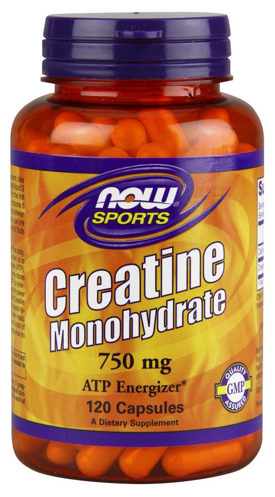 NOW Creatine 750mg, 120 Capsules