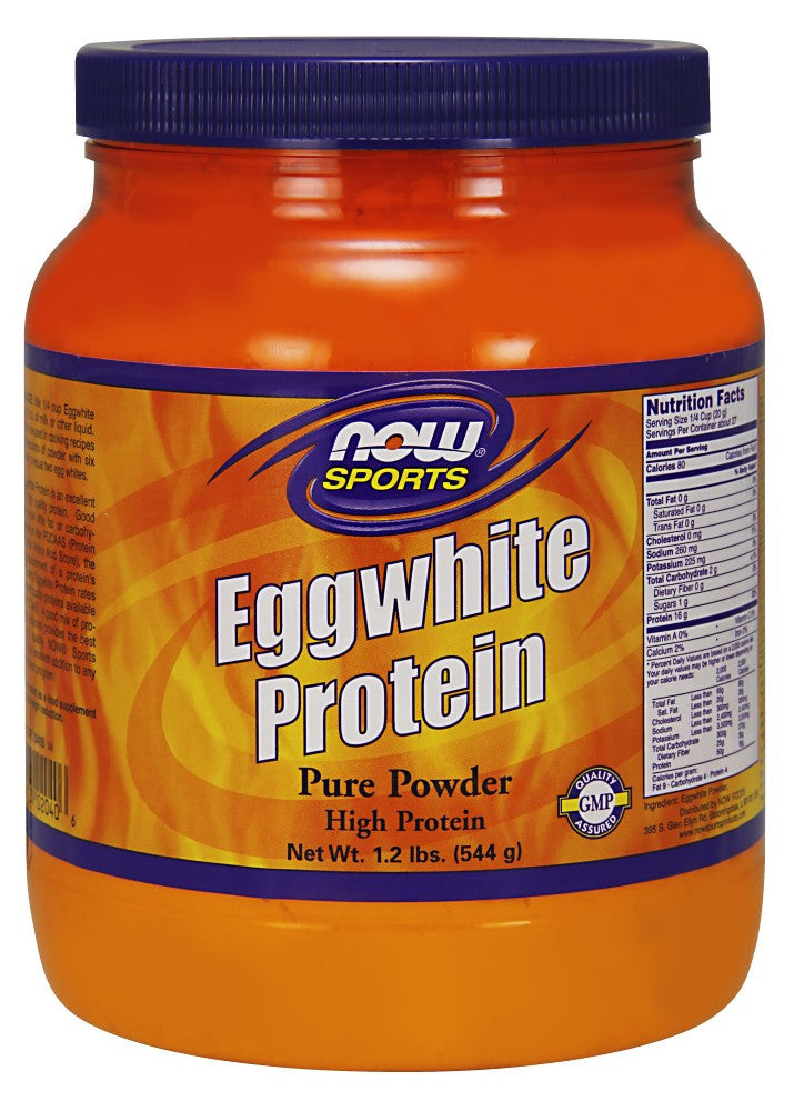 NOW EggWhite Protein Powder - 1.2 lb.