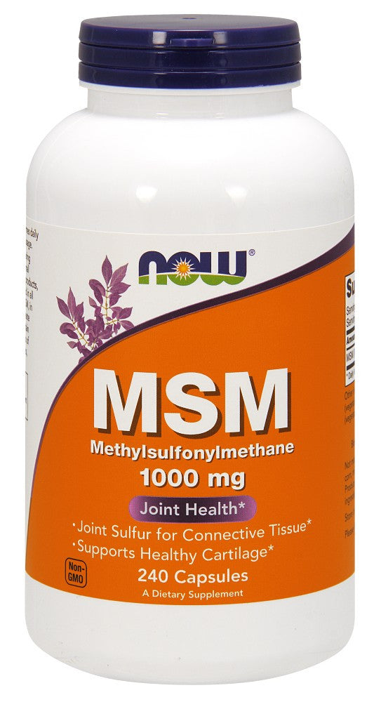 NOW MSM 1000 mg - 240 Capsules
