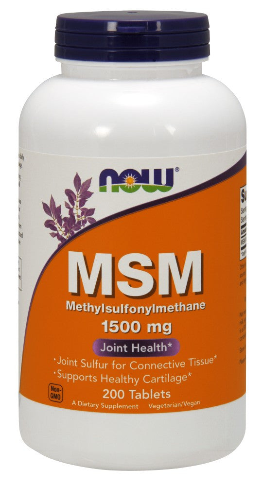 NOW MSM 1500mg Vegetarian - 200 Tablets