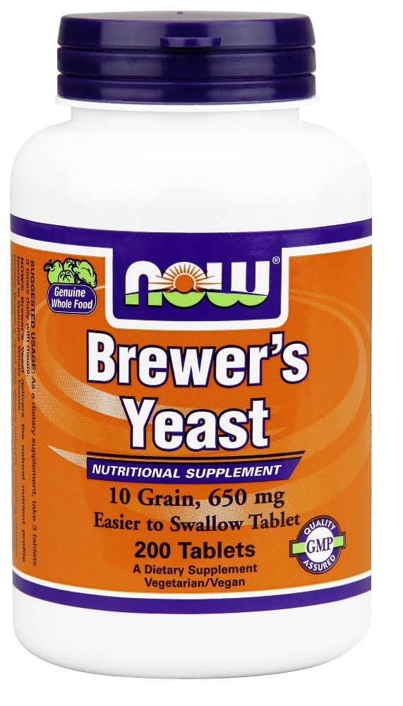 NOW Brewer's Yeast 650 mg - 200 Tablets