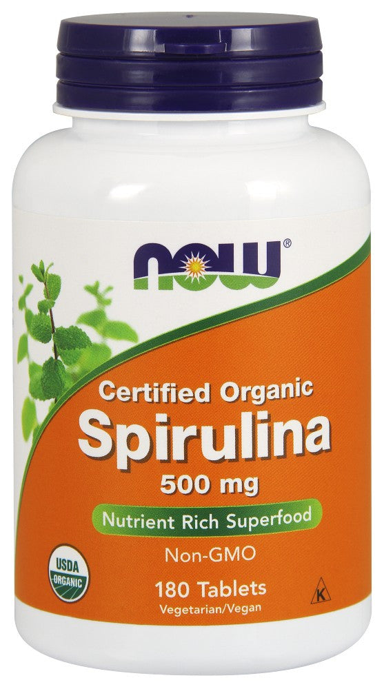 NOW Spirulina 500 mg - 180 Tablets