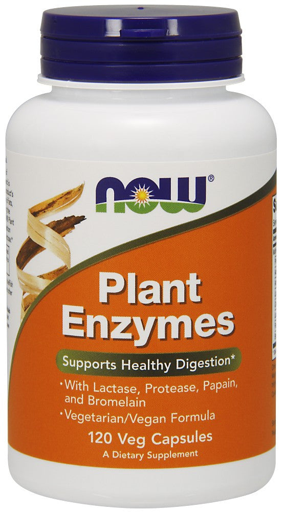 NOW Plant Enzymes - 120 Vegetarian Capsules