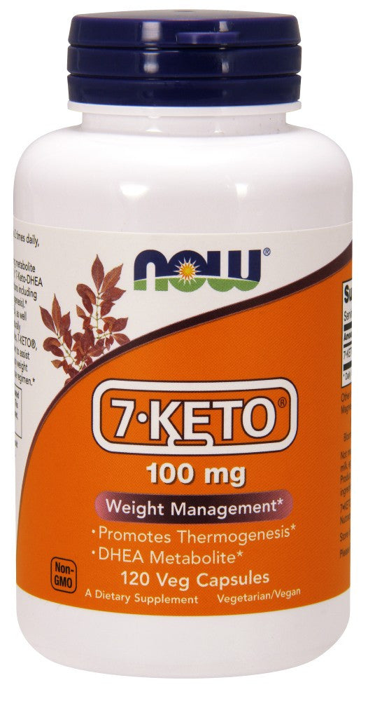 NOW 7-Keto 100 mg - 120 Vegetarian Capsules