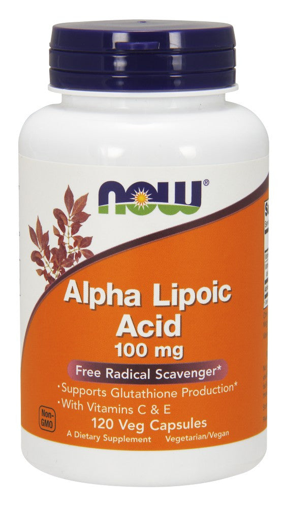 NOW Alpha Lipoic Acid 100 mg - 120 Vegetarian Capsules
