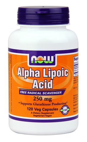 NOW Alpha Lipoic Acid 250 mg - 120 Vegetarian Capsules