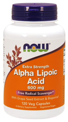 NOW Alpha Lipoic Acid 600mg - 120 Vegetarian Capsules
