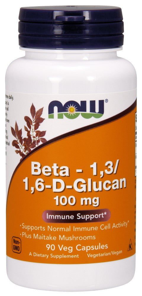 NOW Beta 1,3/1,6- D -Glucan 100 mg - 90 Vegetarian Capsules
