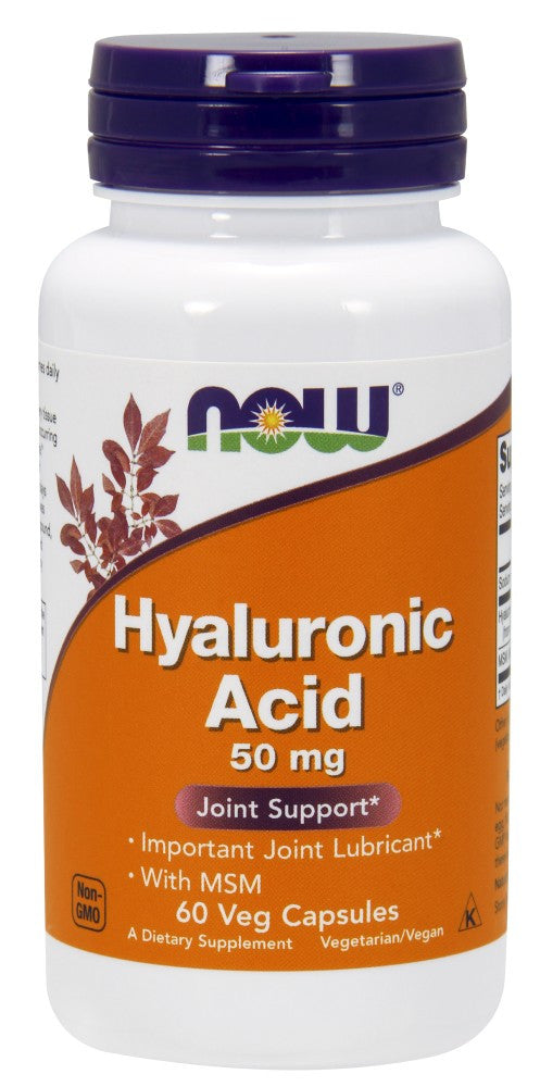 NOW Hyaluronic Acid with MSM - 60 Vegetarian Capsules