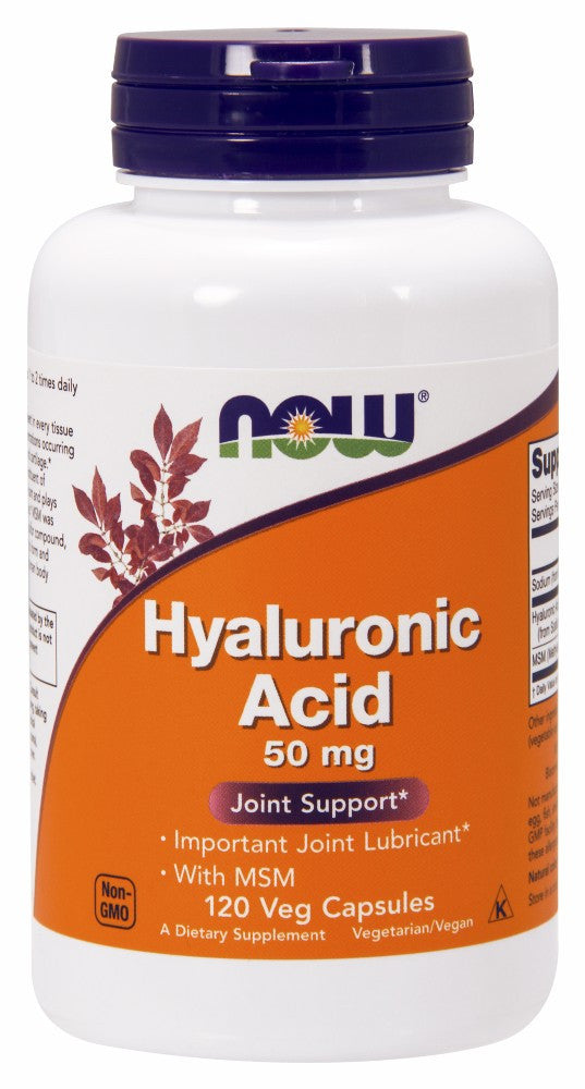 NOW Hyaluronic Acid with MSM - 120 Vegetarian Capsules