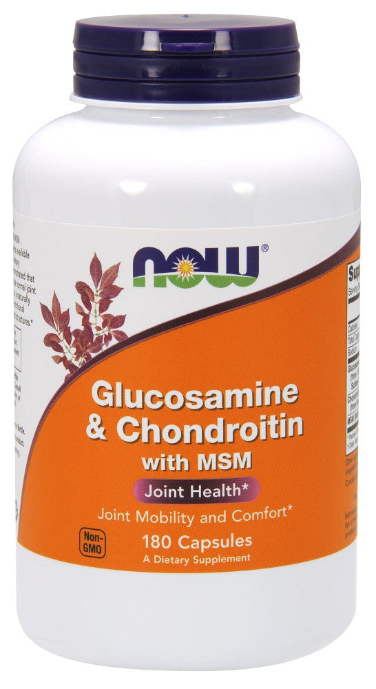 NOW Glucosamine & Chondroitin with MSM 180 Caps