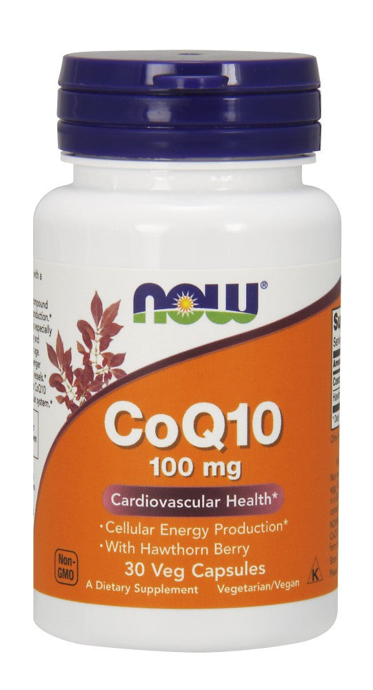 NOW CoQ10 100 mg with Hawthorn Berry Vegetarian - 30 Vegetarian Capsules