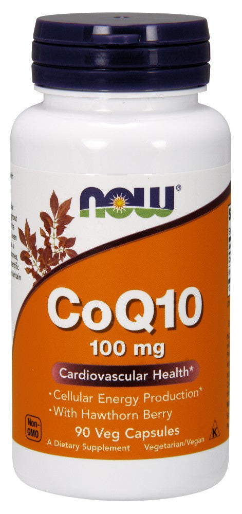 NOW CoQ10 100 mg with Hawthorn Berry Vegetarian - 90 Vegetarian Capsules