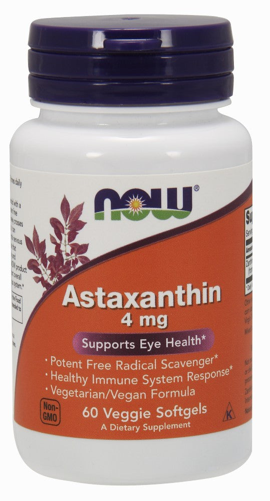 NOW Astaxanthin 4 mg - 60 Veggie Soft Gels