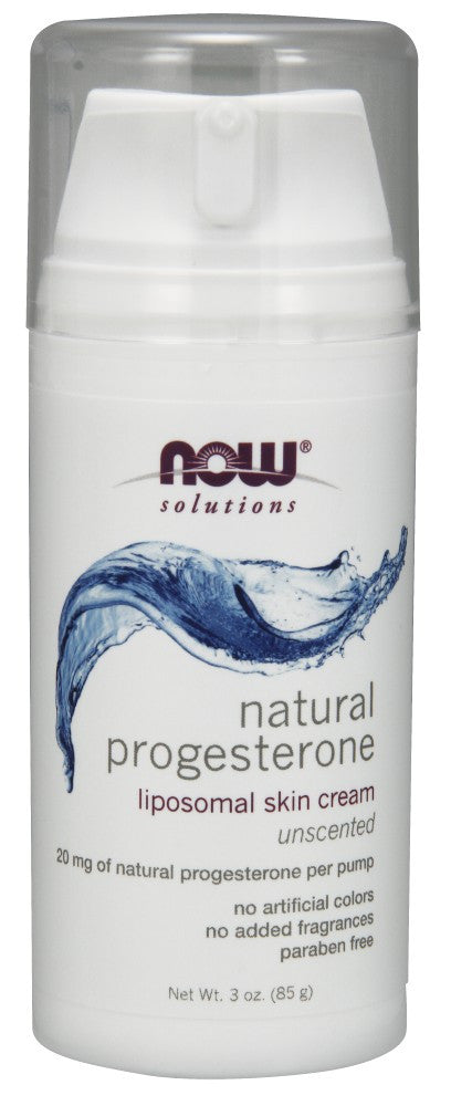 NOW Natural Progesterone Liposomal Skin Cream - 3 oz.