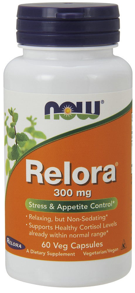 NOW Relora 300 mg - 60 Vegetarian Capsules
