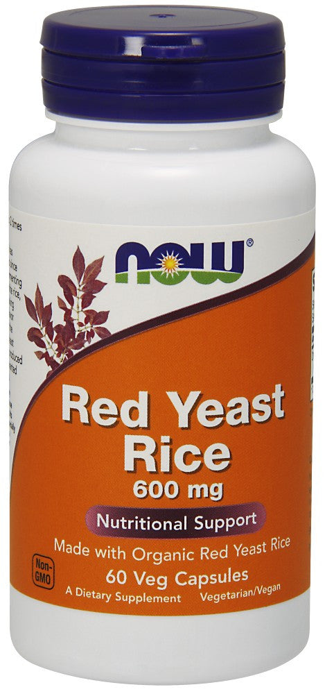 NOW Red Yeast Rice 600 mg - 60 Vegetarian Capsules