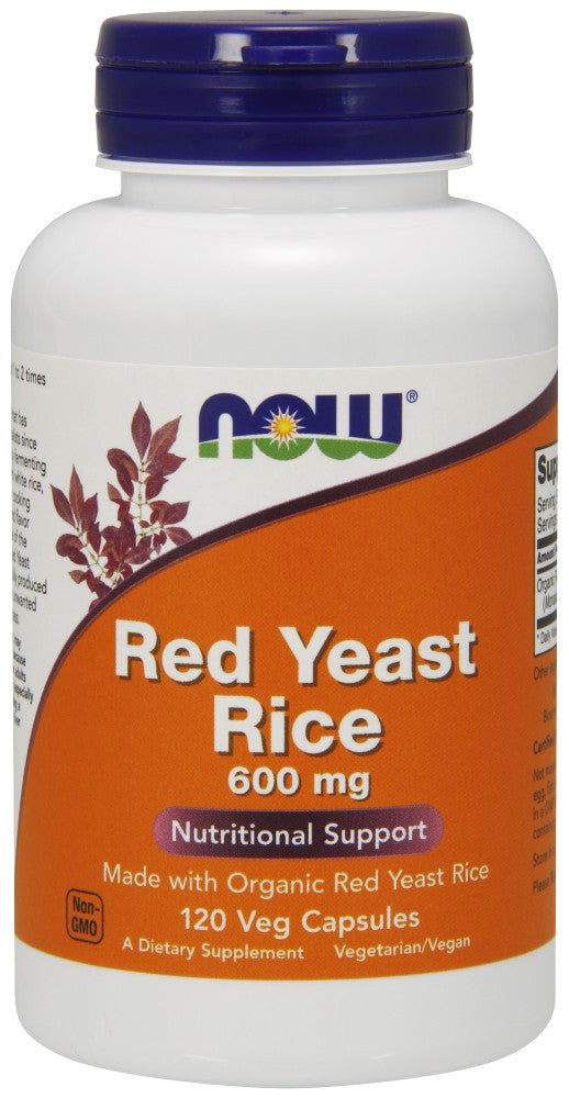 NOW Red Yeast Rice 600 mg - 120 Vegetarian Capsules