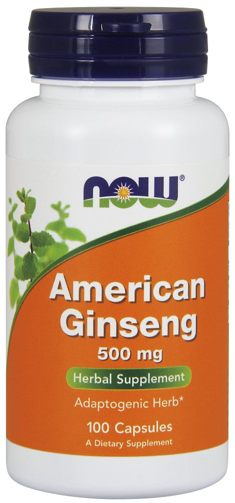 NOW American Ginseng 500 mg - 100 Capsules