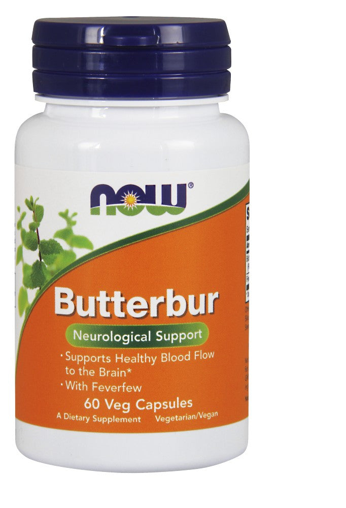 NOW Butterbur with Feverfew - 60 Vegetarian Capsules