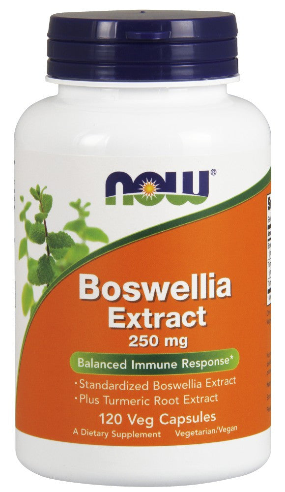 NOW Boswellia Extract 250 mg - 120 Vegetarian Capsules