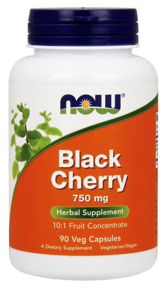 NOW Black Cherry Fruit 750 mg - 90 Vegetarian Capsules