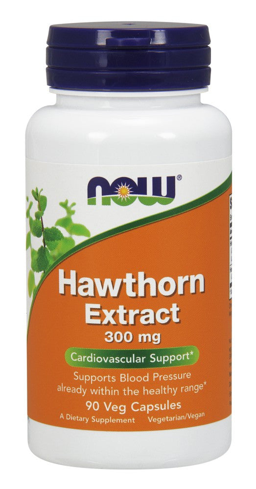 NOW Hawthorn Extract 300 mg - 90 Vegetarian Capsules