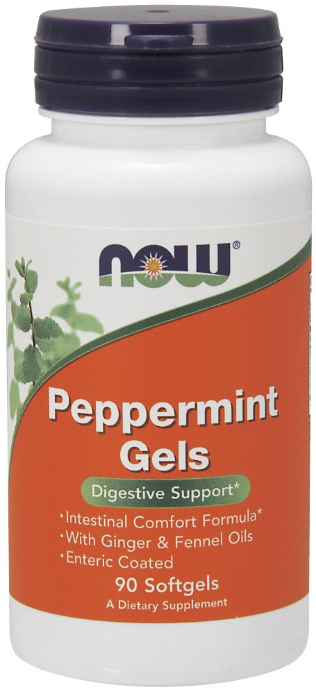 NOW Peppermint Gels - 90 Soft Gels