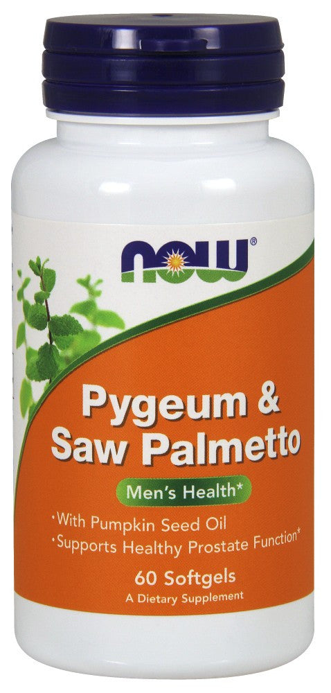 NOW Pygeum & Saw Palmetto Extract - 60 Soft Gels