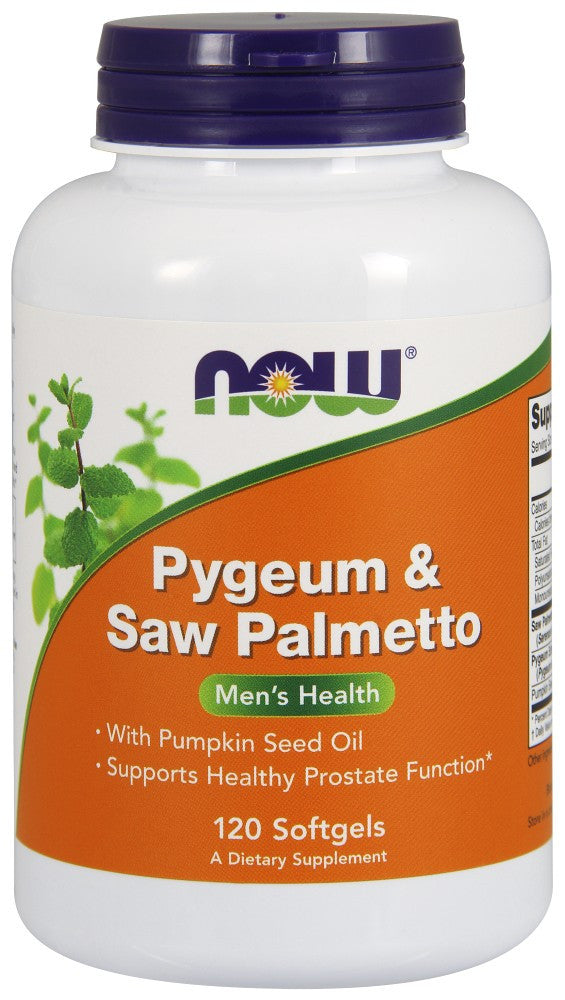 NOW Pygeum & Saw Palmetto – 120 Soft Gels