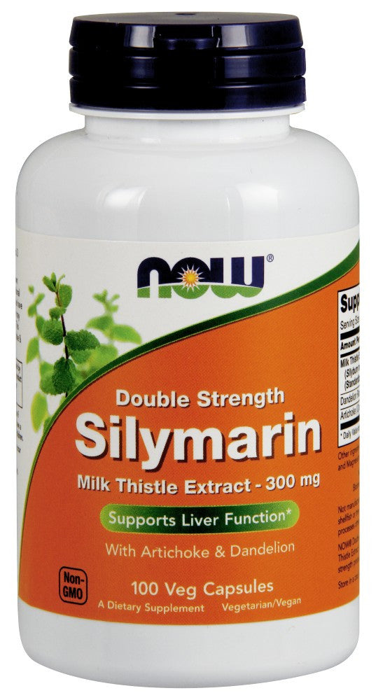 NOW Silymarin 2X - 300 mg - 100 Vegetarian Capsules