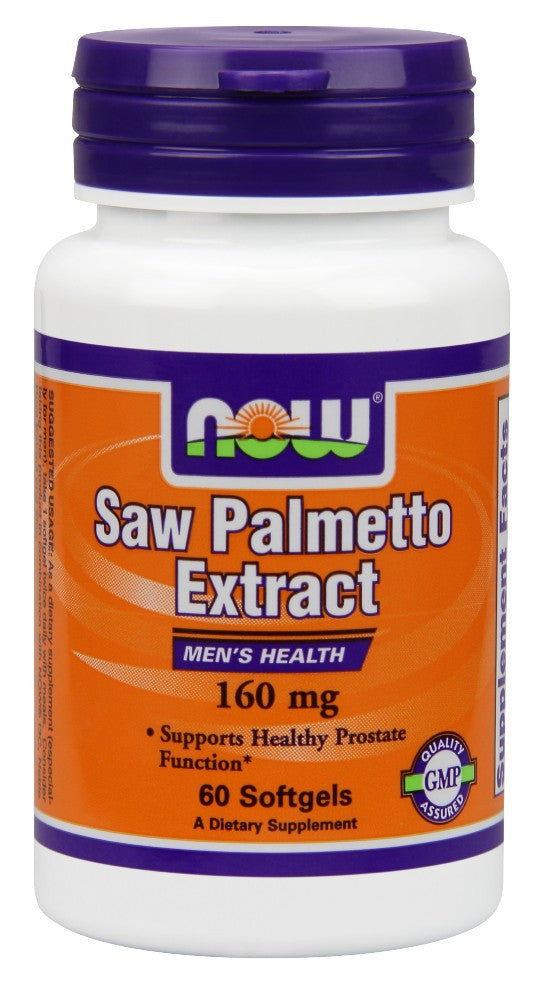 NOW Saw Palmetto Double Strength 160 mg - 60 Soft Gels