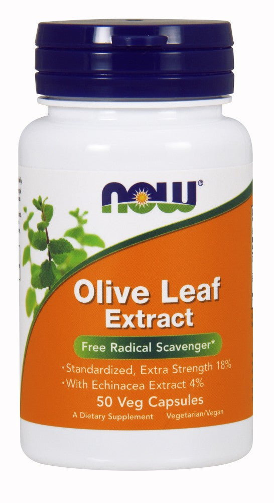 NOW Olive Leaf Extract 500 mg with Echinacea - Vegetarian - 100 Vegetarian Capsules