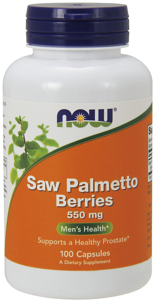 NOW Saw Palmetto Berry 500 mg - 100 Capsules